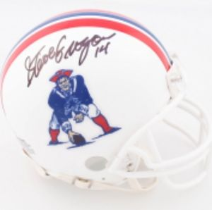 Steve Grogan QB Patriots signed mini helmet
